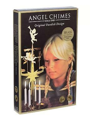 Angel Chimes - Original Swedish Christmas Decoration - With 4 Candles Chime New