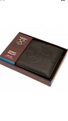 West Ham United FC Official Debossed Leather Wallet Christmas Gift Dad Father