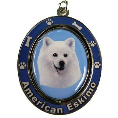 American Eskimo Dog Spinning Key Chain Fob