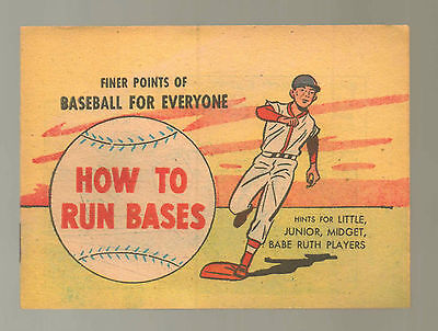 How to Run Bases NM 1957 Finer Points Baseball Everyone Babe Ruth Comic Book