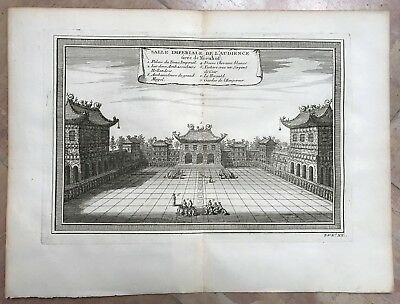 Beijing Imperial Palace China 1750 Nicholas Bellin Nice Antique Engraved View