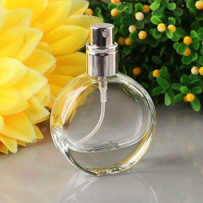 Empty Glass Perfume Spray Bottle Round Atomizer Refillable Travel Gift 25ml