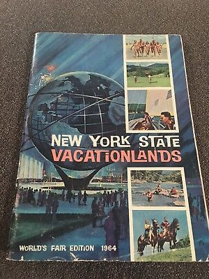 Vintage New York State Vacation Guide Worlds Fair Edition 1964
