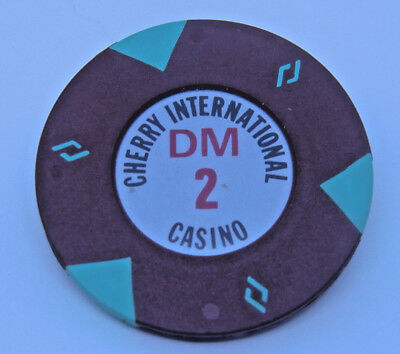 Casino, Spielbank,Jeton, Chip: 2 DM Cherry International Casino