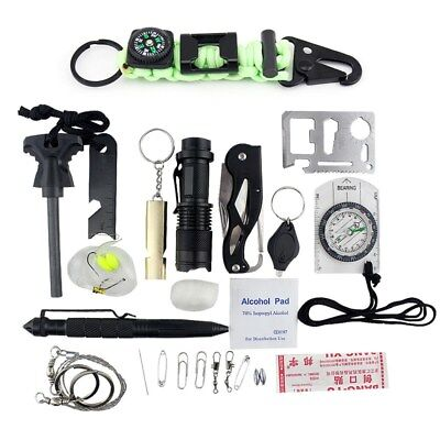 Emergency Survival Kit Military Survival Gear for Hunting Camping
