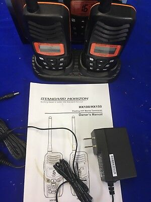 Standard Horizon Model HX100 Floating VHF Marine Transceivers complete with wall