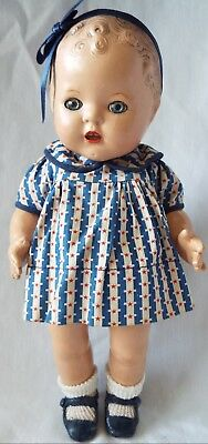 """Vintage Arranbee 1930's MY DREAM BABY Toddler 11"""" Composition Doll All Original"""