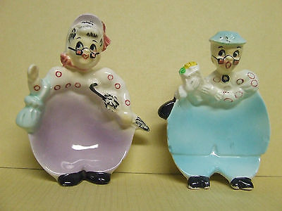 VHTF Vintage Enesco Granny/Busy Biddy Bitty Tea Bag Holders (Japan)