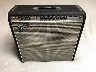 1968 Fender Super Reverb Amp 99 Original Drip Edge Sounds Great AB568 Curcuit