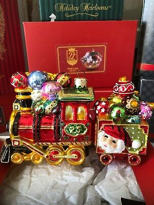 Polinaise Holiday Train Ornament New In Box