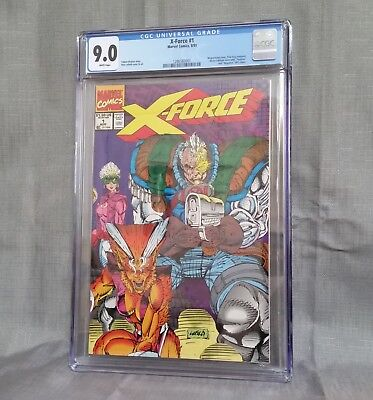 X-Force 1 CGC 9.0, Deadpool 2 film.. Cable, Domino, Shatterstar