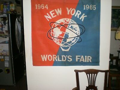 Large Building Commercial Banner   1964  1965 New York Worlds Fair