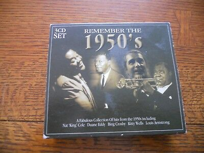 Remember the 1950's 3 CD Set Imported from England Rare