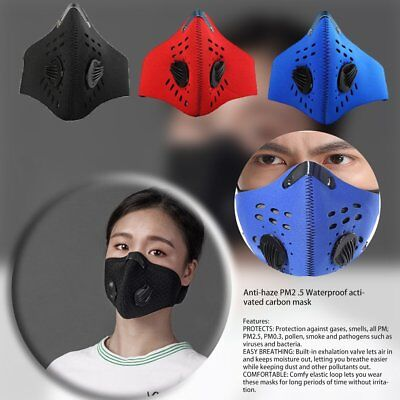 Neoprene Anti-pollution Face Mask Filter Outdoor Motorcycle Bicycle Cycling  H3