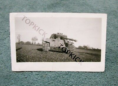 Original WWII German Tiger Tank Photo A Taken By US Soldier Out Of Scrapbook
