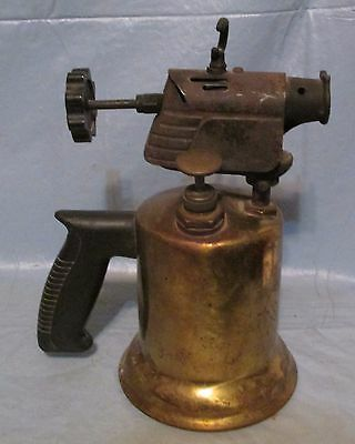 Antique Vintage Craftsman Brass Gas Blow Torch Solderer Steampunk Lamp Part used