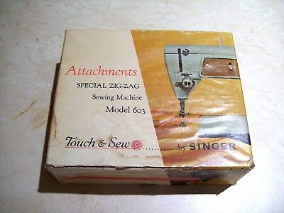 Singer 603 Special Zig Zag Attachments Touch & Sew Sewing Machine