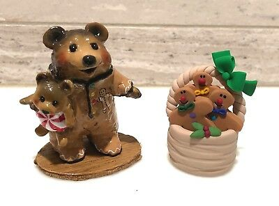 Wee Forest Folk GINGERBREAD NIGHTIE BEAR w/Accessory Rare Limited Store Special