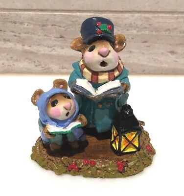 Wee Forest Folk M-63 THE CAROLERS Rare Vintage Mice Annette Petersen 1981 Only