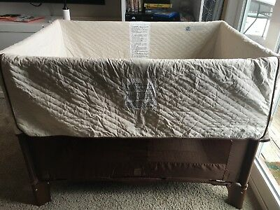 ARM'S REACH CO-SLEEPER - Very Good CONDITION with riser extensions and bed strap