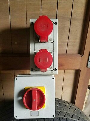 Three Phase Sockets And  Isolating Switch Caravan