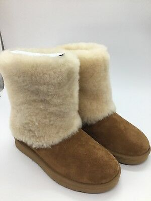 f1a6578f79a UGG PATTEN CHESTNUT Shearling Cuffed Boots 1006011 NWOB 6