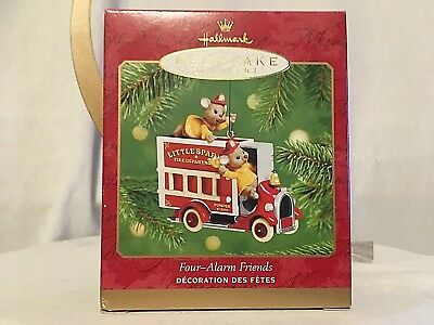 New Hallmark Keepsake Christmas Ornament Four-Alarm Friends 2001 Qx8325 Freeship