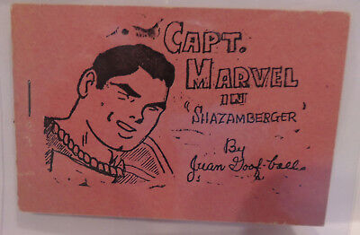 """Captain Marvel in """"Shazamberger"""" 1st printing Tijuana Bible 8 pager  Fine"""