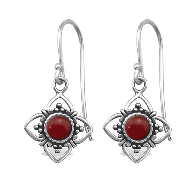 Tata Gisèle Earrings in 925/000 Sterling Silver and Semi Precious Stone - Pendin