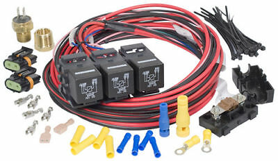 Painless Performance 30116 Dual Activation/Dual Fan Relay Kit (on 195, off 185)