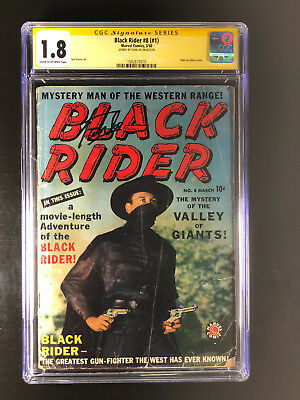 Black Rider 8 CGC 1.8 signed by Stan Lee Early Photo Cover
