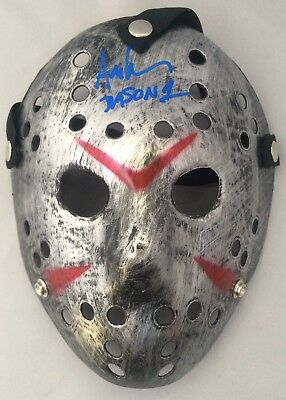 Ari Lehman Signed Jason Mask Friday the 13th BAS Witnessed Autographed Beckett
