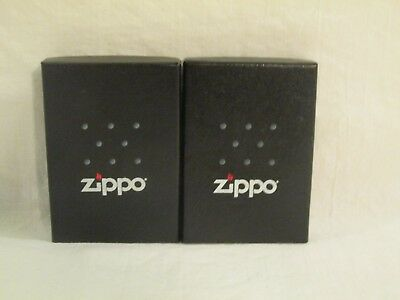 2 Genuine Zippo Windproof Lighter 207 Regular Street Chrome New in Box