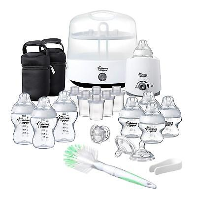 Baby Bottles Milk Tommee Tippee Closer To Nature Complete Feeding Set, White Set