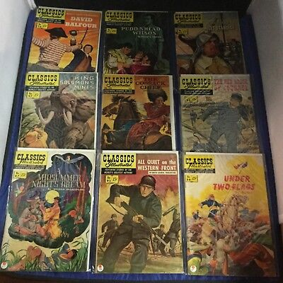 Classics Illustrated Comics Lot of 9 Issues ALL FIRST PRINTS Gilberton LOT B