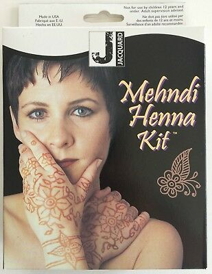 Jacquard Mehndi Non-permanent Body Art Henna Tattoo Kit