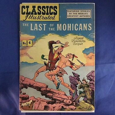 Classics Illustrated #4 HRN 64 The Last of the Mohicans RARE Gilberton Comics