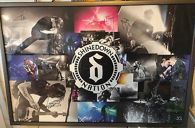 "Shinedown Nation Autographed 24"" X 36"" Poster Heavy Stock (FRAME NOT INCLUDED)"