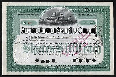 1912 New Jersey, USA: American-Hawaiian Steam Ship Company