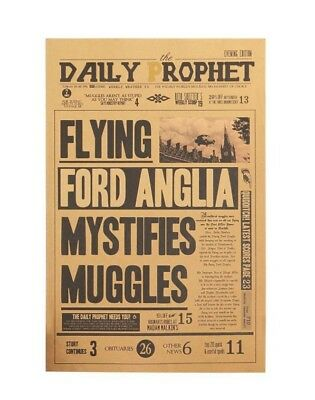 Harry Potter Flying Ford Anglia Vintage Poster Kraft Paper Wall Stickers Placard