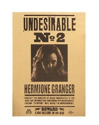 Harry Potter Undesirable No 2 Hermione Jane Granger Poster Wall Stickers Placard