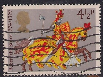 GB 1974 QE2 4 1/2p Medieval Warriors SG 958 used stamp ( B1215 )