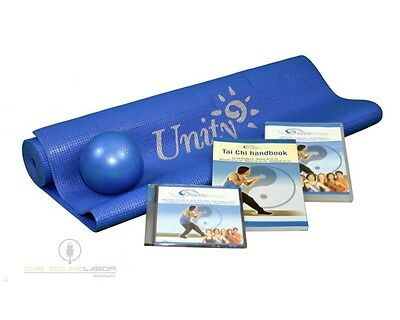 Fitness Set - TAI CHI Traing Set Yogamatte Matte mit Ball, Buch + DVD NEU & OVP