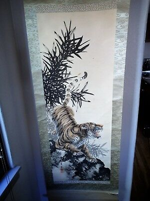 Japanese Tiger Scroll  Price reduced, twice