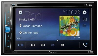 """Pioneer AVH-200EX Double DIN 6.2"""" Touchscreen Bluetooth USB DVD CD Car Stereo"""