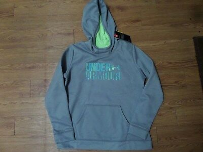 BNWT-  Girls UNDER ARMOUR Storm  Hoodie! Size YXL Loose Fit  GRAY