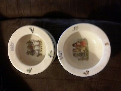 Czechoslovakian Baby's Bowls LOT OF 2 XLT CONDITION