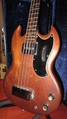Vintage 1965 Gibson EB-0 Electric Bass Guitar Natural W/ Vintage Hard Shell Case