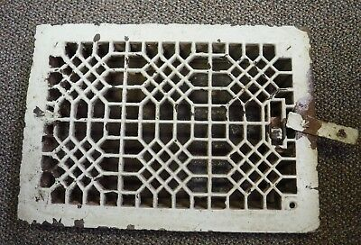 Antique Cast Iron Ornate Floor Heating Grate Register Vent