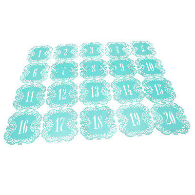 eBuyGB Pack of 10 Wedding Name Table Setting Marker Place Card Holder Transparent Blue